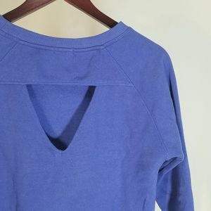 Cute Sweater Top   Small   Blue Cut-out